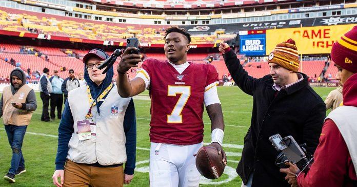 Nicht unumstrittener junger Washington-QB: Dwayne Haskins