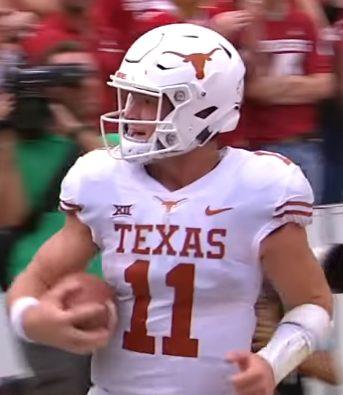 Texas Star-QB: Sam Ehlinger - Bild: Wikipedia